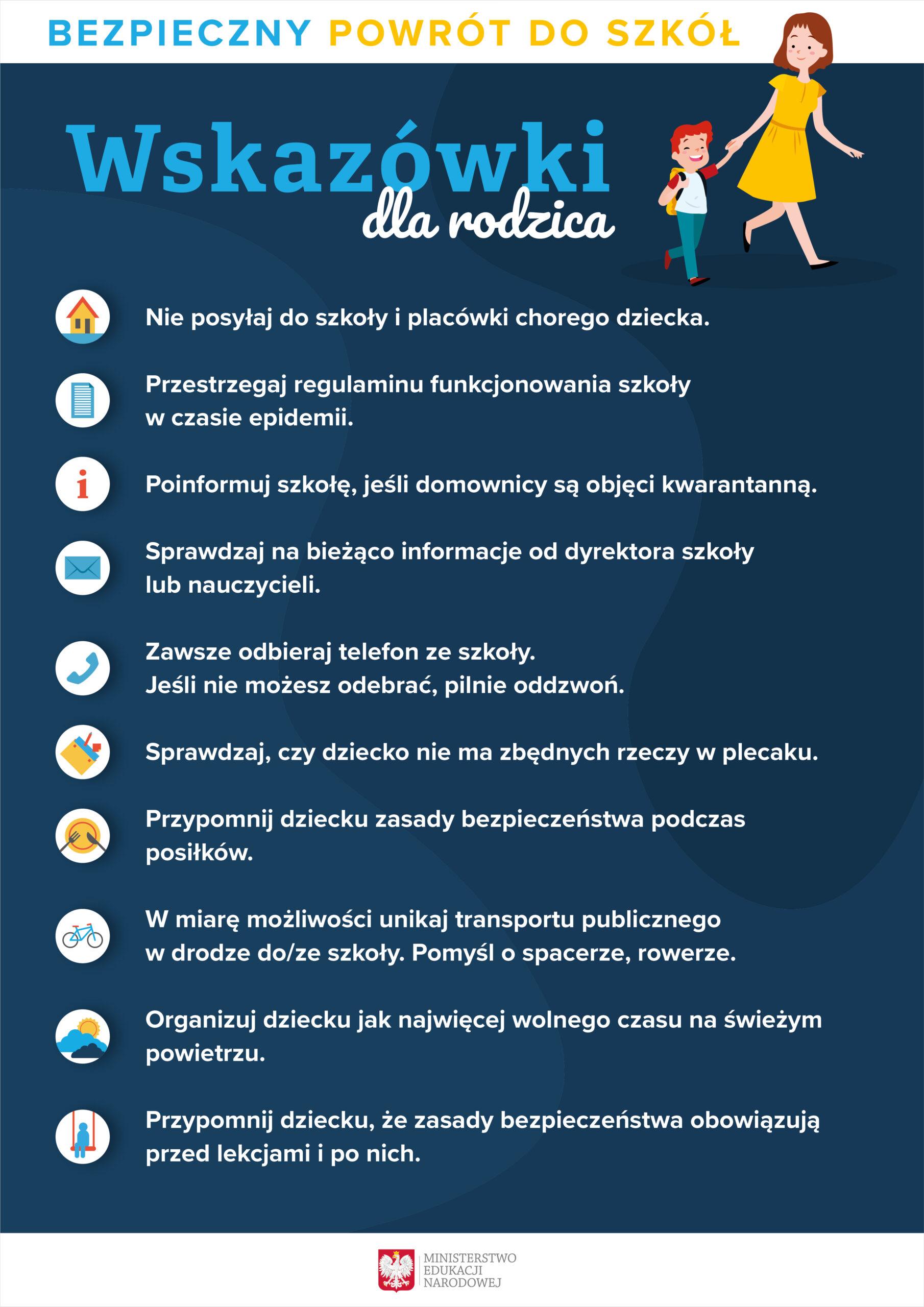 Bezpieczny powrót do szkół - 10 zasad dla ucznia i wskazówki dla ...